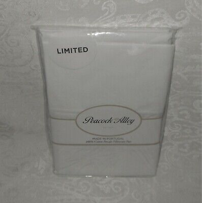 2 Peacock Alley Standard 100% Cotton Percale Pillowcases White NEW FREE SHIPPING