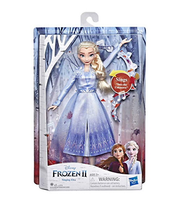 Disney Frozen 2 Movie Singing Elsa Doll with Music Wearing a Blue Dress NEW