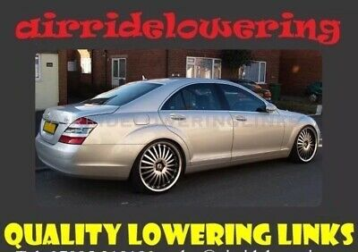 MERCEDES S CLASS W221 Air/ABC Suspension Lowering Links Full Kit