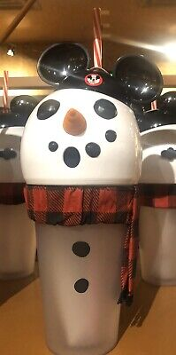 2019 Disney Parks Christmas Holiday Snowman Mickey Light up Sipper Cup