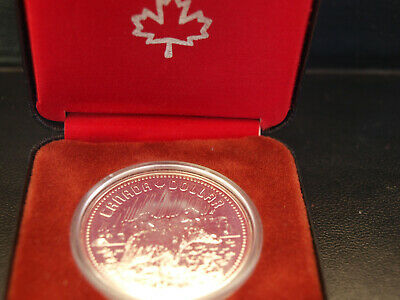 1980 Canadian Proof Silver Dollar Coin
