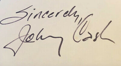 Johnny Cash Cut Autograph Signed Country Hall Of Fame Authentic PSA DNA