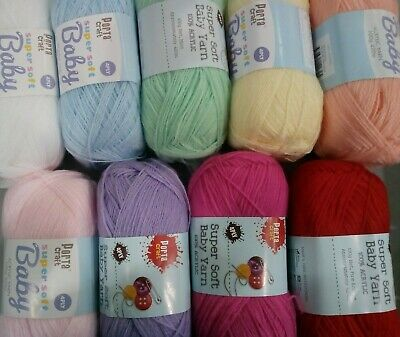 Baby Acrylic Yarn Super Soft 100g 4ply Knitting Crochet