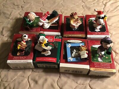 Hallmark Keepsake Xmas Ornaments  Lot Of 8  And One Peanuts By Kurt Adler