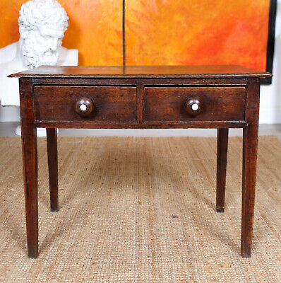 Antique Georgian Oak Table Drawers George IV Side Console Table