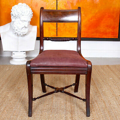 Antique Regency Rosewood Chair Victorian Dining Chair 19th Century