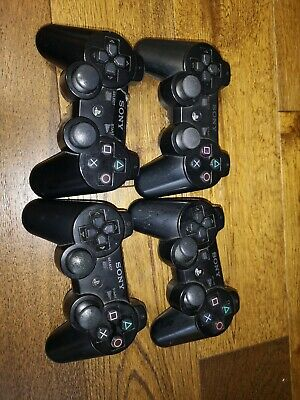 4x PLAYSTATION 3 OFFICIAL SONY DUALSHOCK 3/ Six Axis CONTROLLER
