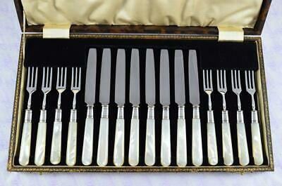 James Dixon Mother Of Pearl Knives & Forks Sheffield C1930