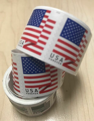 300 USPS First Class Forever Stamps - 2018 Flag  3 Coils
