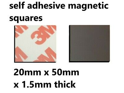 3M Self Adhesive strong backing Magnetic Tape Craft Magnet Strip 20mm x 50mm x 4