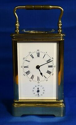 Antique 1880 Stunning Rare Henri Jacot Striking + Alarm Carriage Clock  Gwo
