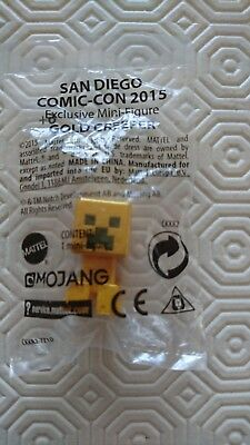 Minecraft Gold Creeper Steve Mini-Figure -New and Sealed - Comic Con Exclusive