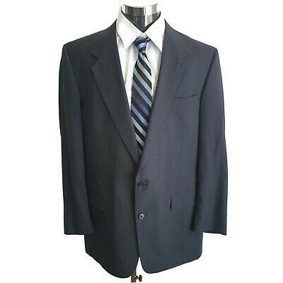 Austin Reed Blazer Jacket Sport Suit Jacket Two Button 44L Dark Gray Wool Blend