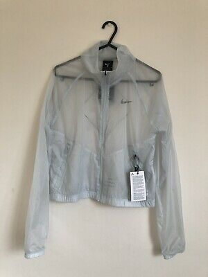 Nike Womens Running Division Transparent Packable Jacket Size Small