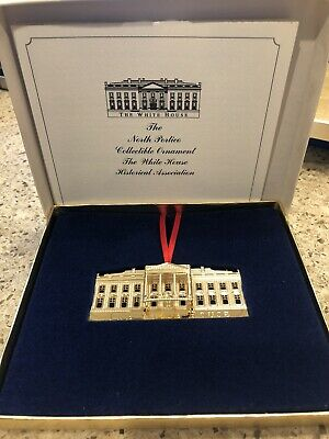 White House Historical Association Christmas Ornament North Portico Box Papers