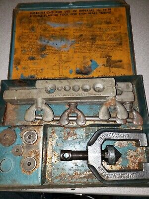 Vintage Imperial Brass Tool Kit No.93-FB Double Flaring Tool Set ~ FREE SHIP !!!