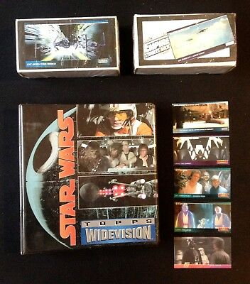 Star Wars WIDEVISION Trading Cards TOPPS + Sammelordner + PROMO Cards RARE!