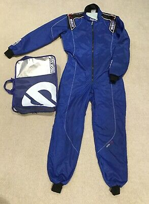 Sparco Ks-3 Level 2 FIA Approved 2 Layer Go Kart Karting Racing Race Suit M Blue