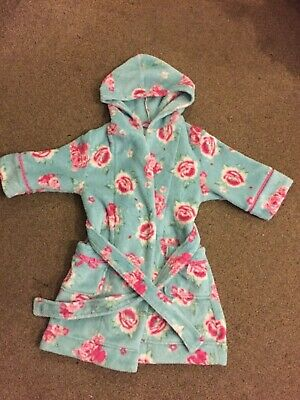 MONSOON- girls fluffy dressing gown - age 3/4 years