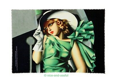Brillenputztuch Lempicka YOUNG LADY WITH GLOVES art deco