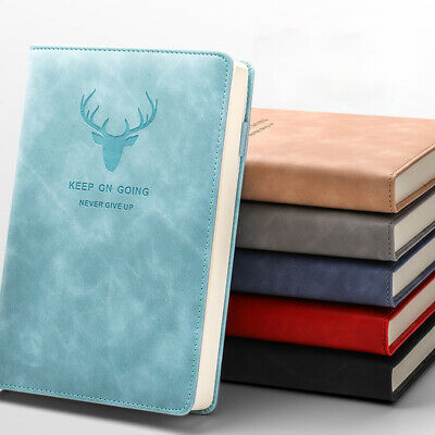 A5 PU Leather Vintage Journal Notebook Lined Paper Diary Planner 360Pages