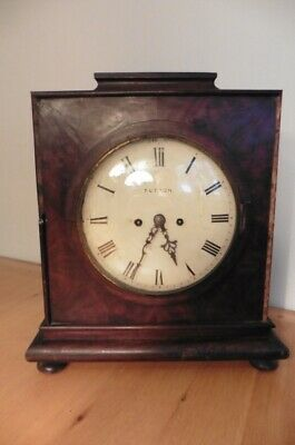 Double Chain Fusee Bracket Clock By Edward Tutton Of Richmond For Restoration