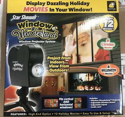 Star Shower * Window Wonderland * Christmas Halloween Movie Projector 12 Movies