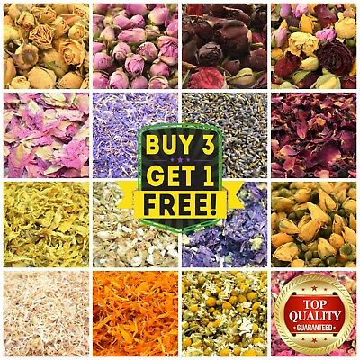 Dried Flowers & Petals 62 Types! Herbal Tea Cooking Garnish Confetti Soap Candle