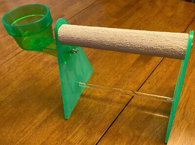 Polly's Pet Products Table Stand Parrot Bird Perch -XLarge 2 in