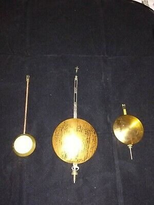 A Collection Of Old/ Antique Clock Pendulums* One Stamped A&N*