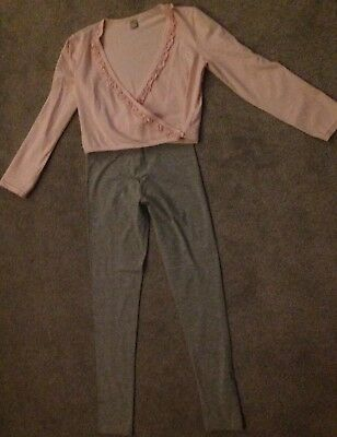 Girls Outfit Ballet Style Top & Leggins 10 Years