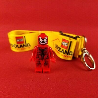 2015 Genuine Lego Red Carnage Minifigure and Lanyard Disney Marvel Spiderman