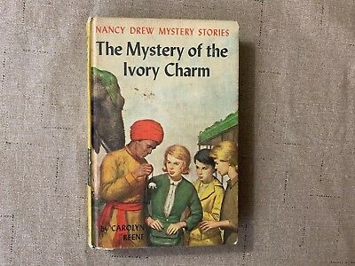 Nancy Drew Original Text yellow matte #13 The Mystery of the Ivory Charm
