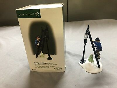 LAMPLIGHTER WITH LAMP  #55778  DEPT 56 DICKENS VILLAGE   Set of 2
