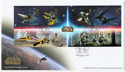 2019 STAR WARS MINI SHEET FIRST DAY COVER Iver Heath Postmark FDC *NICE 26.11.19
