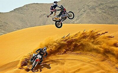 "MOTOCROSS DIRT BIKE JUMP SPORT PHOTO ART PRINT POSTER 24/""x13/"" 015"