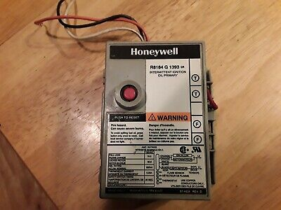 Honeywell r8184g 1393 Intermittent ignition oil primary