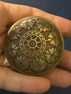 Victorian Antique Cast Bronze Hopkins & Dickinson Doorknob (Damaged)