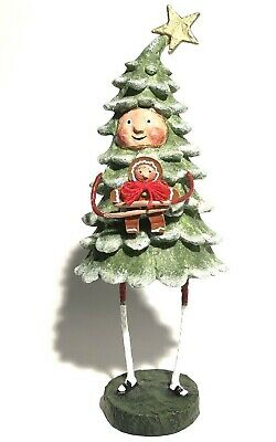 Lori Mitchell Bruce Spruce Christmas Tree Figure With Gingerbread Man