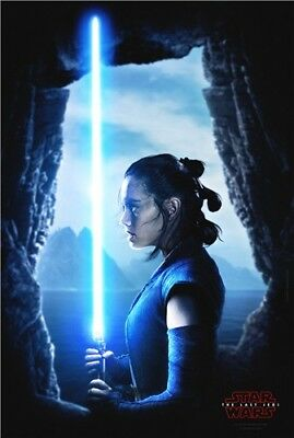 N181 Ray Daisy Ridley Star Wars Movie The Rise of Skywalker Silk Poster 30 24x36