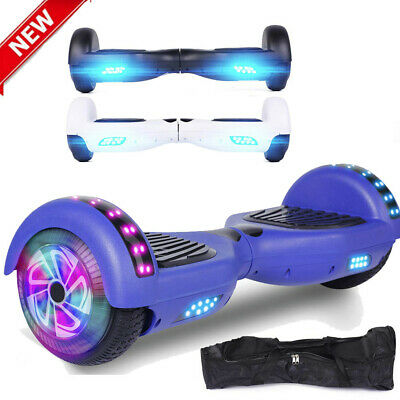 6.5 Hoverboard Electric Self Balancing Scooter LED Light All terrain w/bag Chrom
