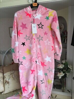 Marks & Spencer Girls All In One Sleeping Fluffy Outfit Age 11-12 Years Bnwt