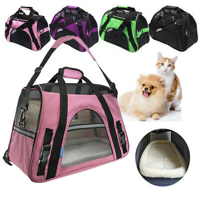 Huggle Pets Fabric Dog Crate Puppy Carrier -Cat Travel Cage Carry Pet Bag 4 Size
