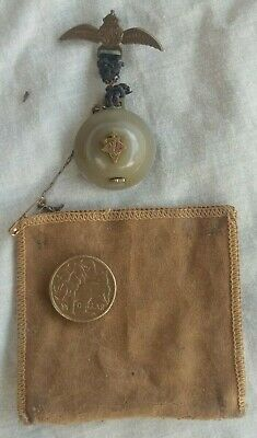 WW2 British RAF fundraising watch in a helmet, RAF wings in pouch. RAAF, Aust.