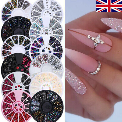 3D Nail Art Rhinestones Wheel Crystals Gems Beads Charms Pearl Glitter Decors