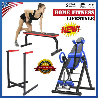 Fitness Equipment Home Exercise Inversion Table+Parallel bars+Sit-up Bench Board