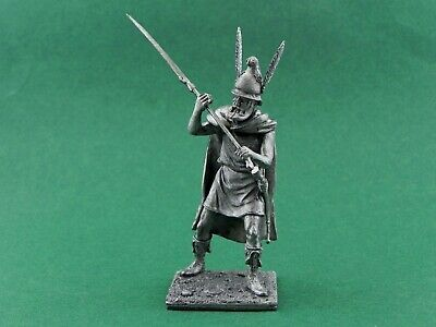Tin toy soldier Agriane Warrior in the army of Alexander. Metall sculpture 54 mm