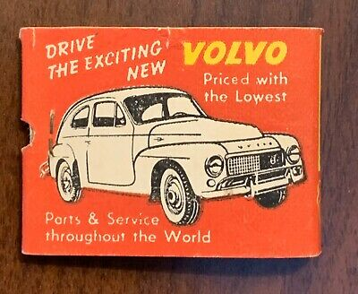 Scarce 1950s Volvo Car Match Cover Michaelson's Motors Baltimore, Maryland NOS