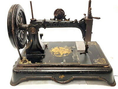 antigua maquina de coser ELIAS  HOWE de 1896 USA rare SEWING MACHINE