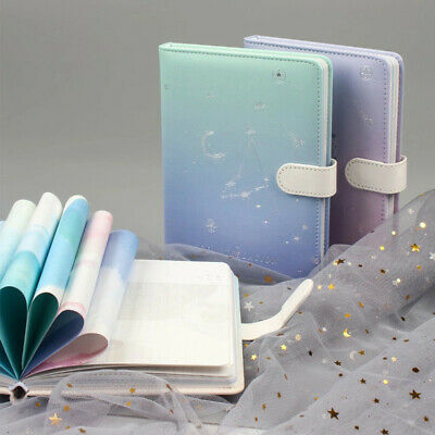 A5 PU Leather Constellation Vintage Journal Notebook Lined Paper Diary Planner